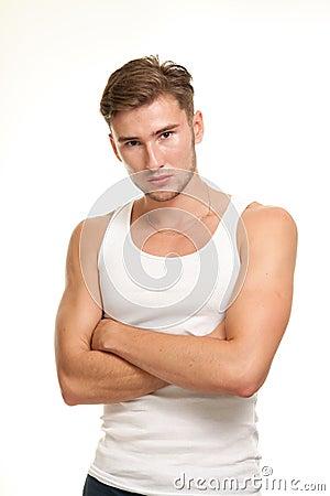 Zeker jong mannelijk model