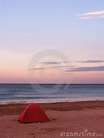 Zelt auf einem Strand