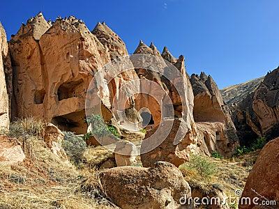 Zelve, Cappadocia, die Türkei
