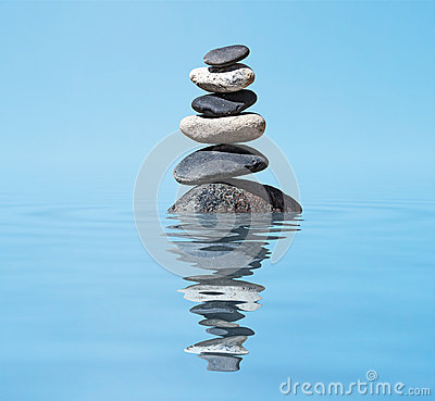 Free Zen Balanced Stones Stack In Lake Balance Peace Silence Concept Royalty Free Stock Photography - 31282427