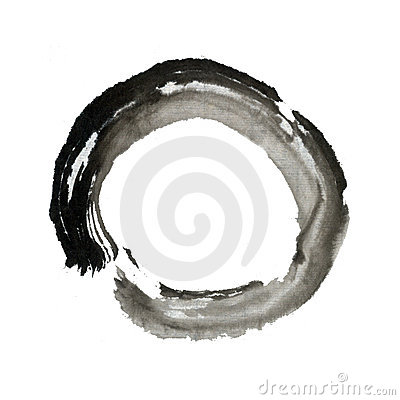 Free Zen Brush Stroke Circle Ring Eastern Art Royalty Free Stock Photos - 11173328
