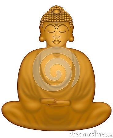 Zen Buddha in Sitting Position
