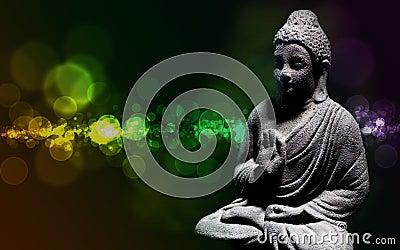 Zen buddha statue