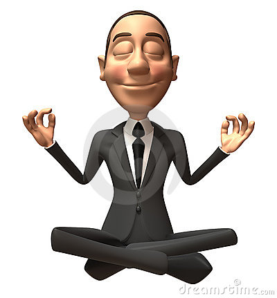 Zen businessman