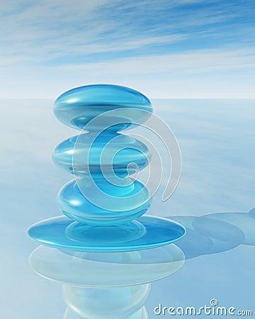 Zen crystal pile