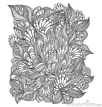 zen doodle coloring pages flower - photo#4