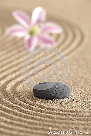 Free Zen Garden In Sand Royalty Free Stock Images - 13978119