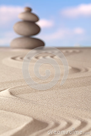 Zen garden spirituality and balance background