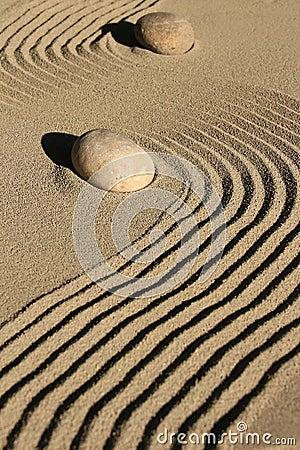 Free Zen Garden Stone And Sand Stock Photo - 43975050