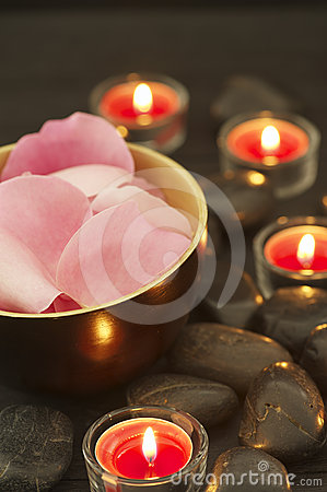 Zen-like Rose Petals Royalty Free Stock Images - Image: 24397069