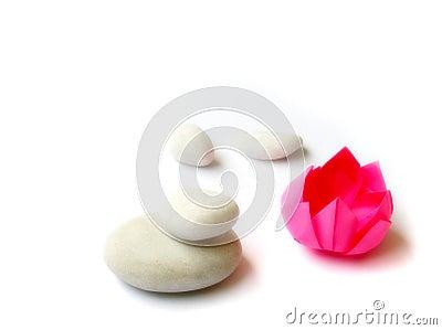 Zen Lotus origami paper