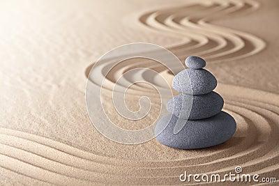 Zen meditation garden balance stones Stock Photo