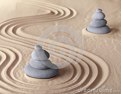 Zen meditation garden harmony and serenity