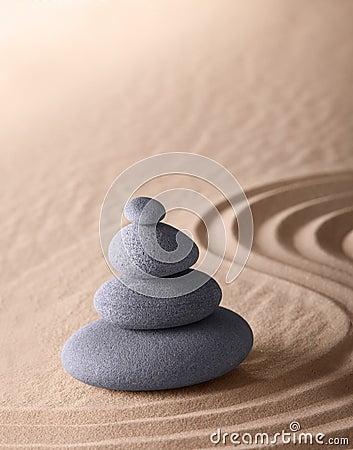 Zen meditation garden purity and simplicity