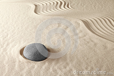 Zen meditation garden spirituality and purity