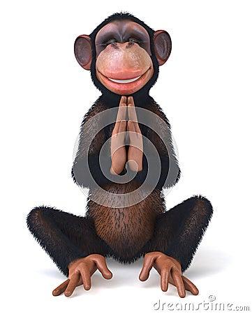Free Zen Monkey Royalty Free Stock Photos - 11116208