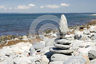 Zen pebble statue
