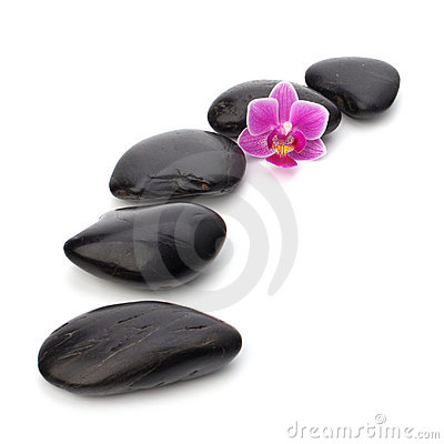 Free Zen Pebbles Path. Royalty Free Stock Photography - 18703237