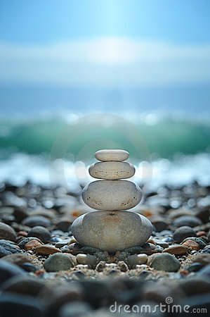 Free Zen Rocks On The Beach Stock Photo - 19520200