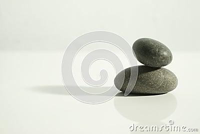 Zen rocks white