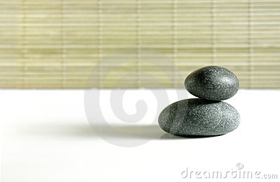 Zen rocks on white