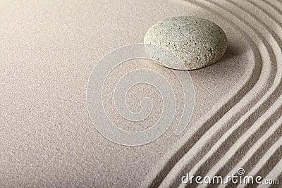Zen sand stone garden spa background