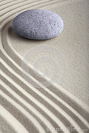 Zen sand stone meditation spa garden