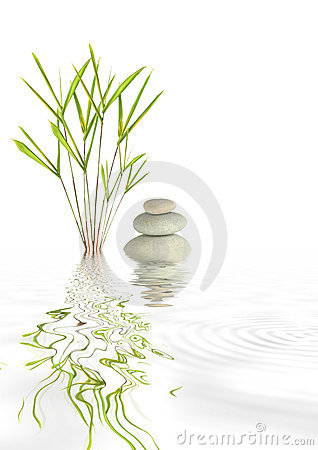Zen Spa Stones and Bamboo