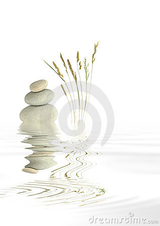 Zen Spa Stones and Natural Grass