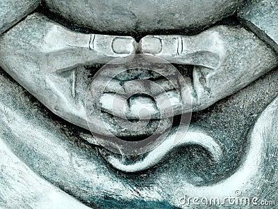 Zen statue details