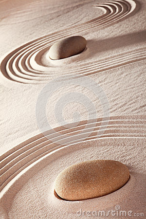 Zen ston meditation garden