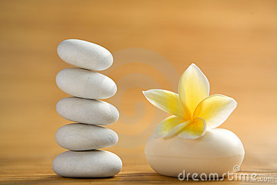 Zen stone and aromatic soap bar