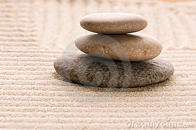 Zen. Stone and sand