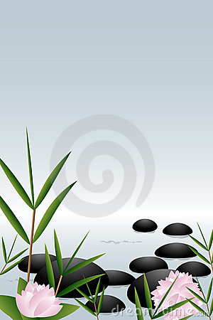 Zen stones background