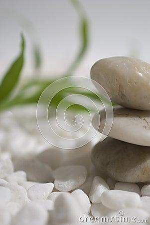 Zen stones and bamboo