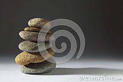 Zen Stones on Grey
