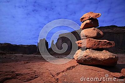 Zen Stones in Monument Valley