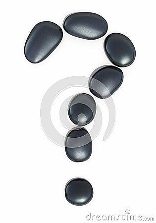 Free Zen Stones Question Mark Form Royalty Free Stock Photos - 35406468