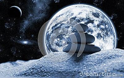 Zen stones in space