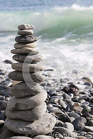 Zen stones stacked