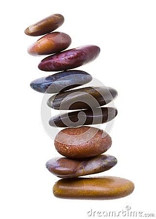Zen stones on white