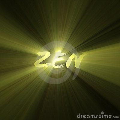 Free Zen Word Enlightenment Bright Light Flare Stock Photos - 6160563
