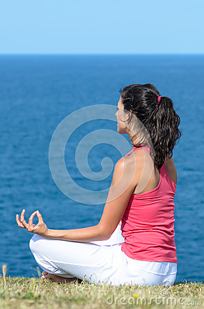 Zen yoga and sea