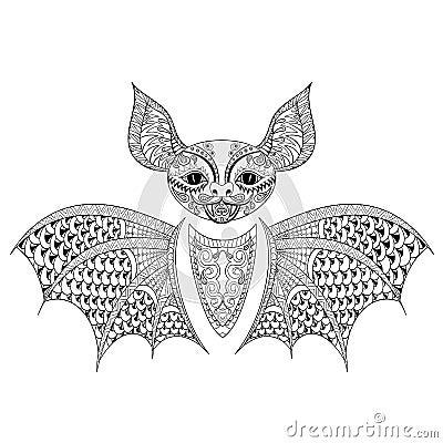Zentangle Bat Totem For Adult Anti