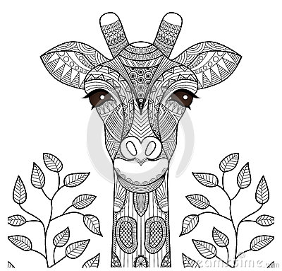 Free Zentangle Giraffe Head Royalty Free Stock Photo - 59688565