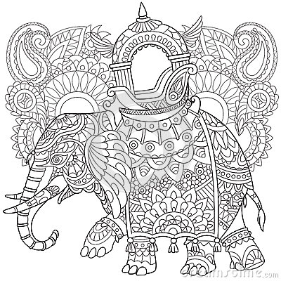 Zentangle Stylized Elephant Stock Vector Image 68637931