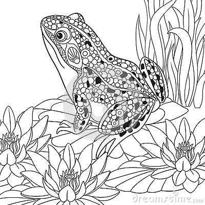 Free Zentangle Stylized Frog Royalty Free Stock Images - 68288229