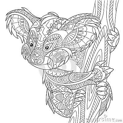 Zentangle Stylized Koala Bear Stock Vector Image 70822461