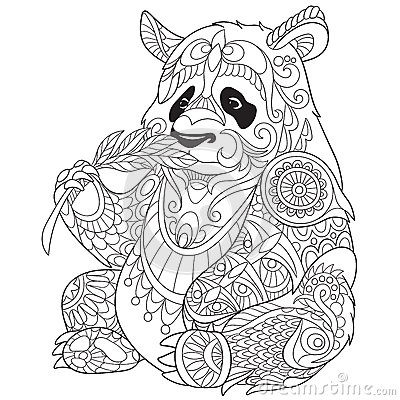 Zentangle Stylized Panda Stock Vector Image 68288239