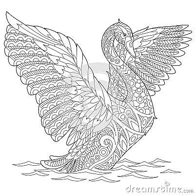 Free Zentangle Stylized Swan Stock Image - 76792501